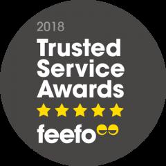 2018 Feefo Trusted Service Awards FEEFO