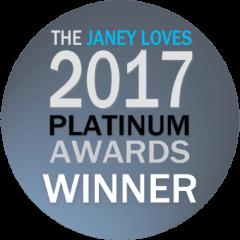 The Janey Loves 2017 Platinum Awards Winner